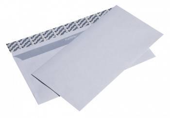 Конверт белый с силиконовой лентой, Е65, 110 х 220 мм