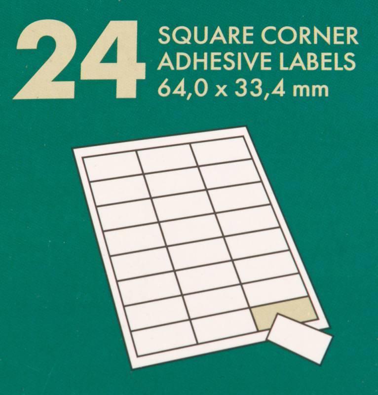 Этикетки Lomond 2100175 70x33.4мм A4 70гр/м2 на лист.24эт. самоклеющаяся универсальная (упак.:50л) - фото 2