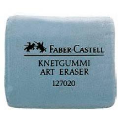 Художественный ластик, серый, в картонной коробке, 18 шт., Faber Castell - фото 1