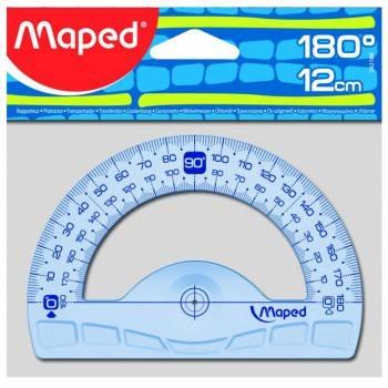 Транспортир Maped Geometric 180° основание 12см
