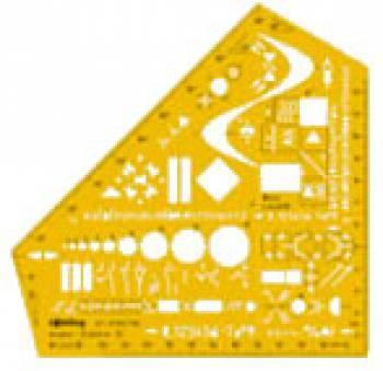 Шаблон электроинжинерный Rotring Studio желтый (S0238591)