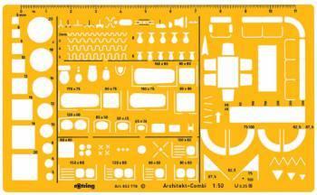 Шаблон архитектурный Rotring Architekt желтый (S0238711)
