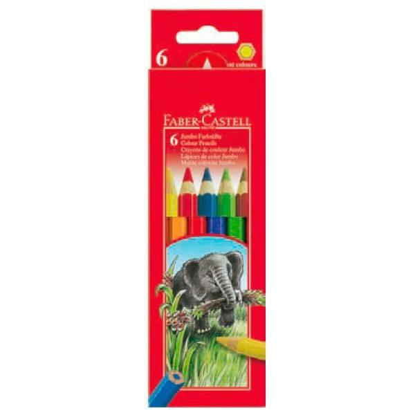 Карандаши цветные Faber-Castell Jumbo 6цв. (111206) - фото 1