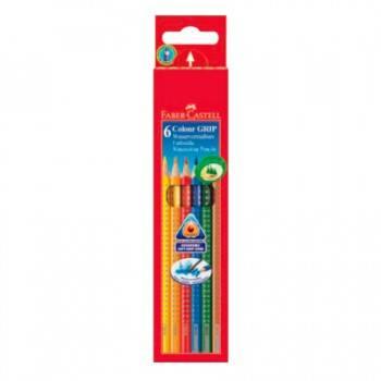 Карандаши цветные Faber-Castell Grip 6цв. (112406)