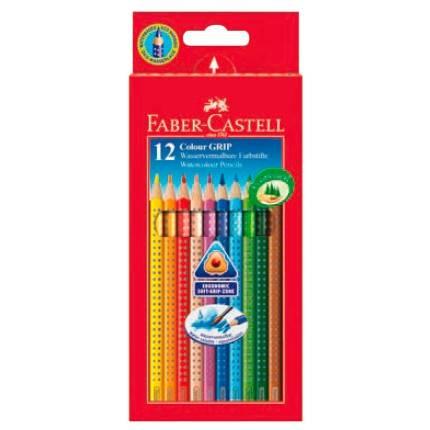 Карандаши цветные Faber-Castell Grip 12цв. (112412) - фото 1