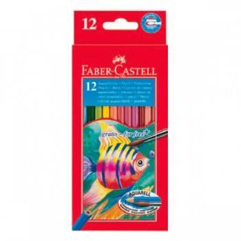 Карандаши цветные акварельные Faber-Castell Colour Pencils 12цв. (114413)