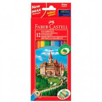 Карандаши цветные Faber-Castell Eco Замок 12цв. (120112)