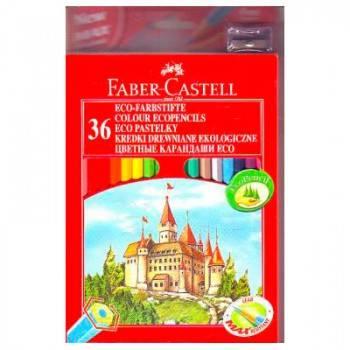 Карандаши цветные Faber-Castell Eco Замок 36цв. (120136)