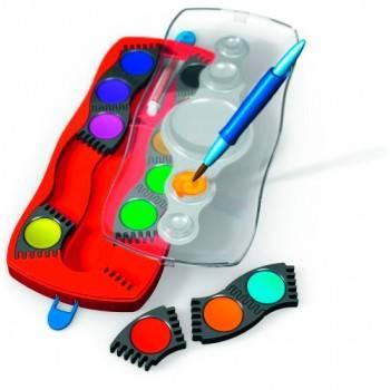 Краски акварельные Faber-Castell Connector 12 цветов с кистью (125023)