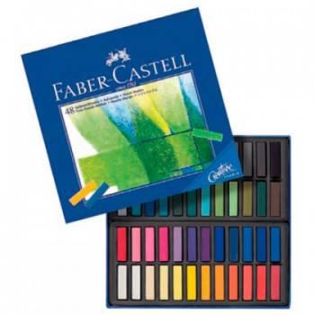 Мелки Faber-Castell mini Gofa 128248 48цв. мягкие карт.коробка