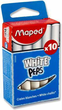 Мелки Maped White`Peps 593500 круглые 10