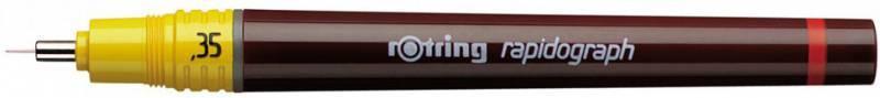 Рапидограф Rotring 1903477 0.35мм съемный пишущий узел/сменный картридж - фото 1