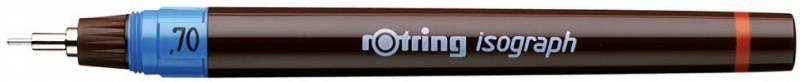 Изограф Rotring 1903494 0.7мм корпус бордовый пластик съемный пишущий узел/заправка тушь - фото 1