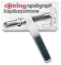 Рапидограф Rotring 1903473 0.7мм съемный пишущий узел/сменный картридж - фото 3