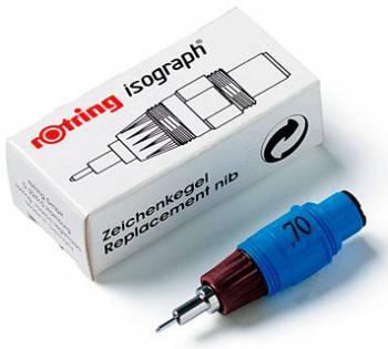 Пишущий элемент Rotring для изографа S0202550 0.70мм пластиковый корпус бордовый