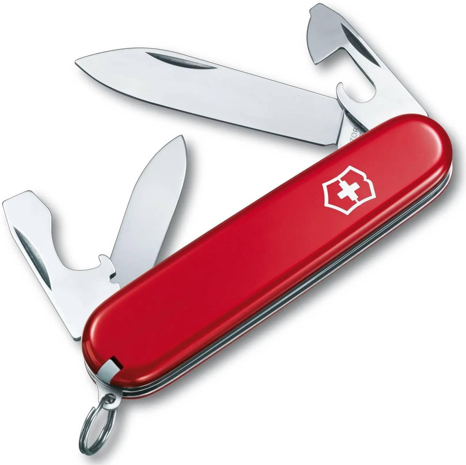 Нож со складным лезвием Victorinox Recruit красный (0.2503) - фото 1