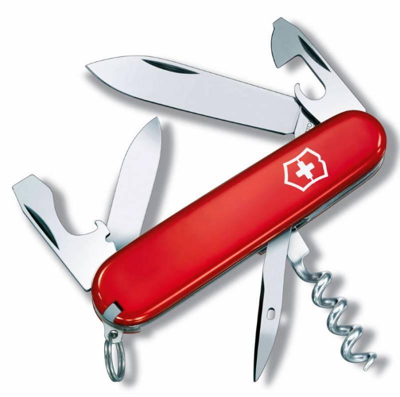Нож со складным лезвием Victorinox Tourist красный (0.3603) - фото 1