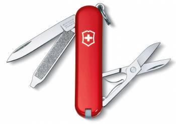 Нож со складным лезвием Victorinox Classic красный (0.6223-012)