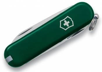 Нож со складным лезвием Victorinox Classic зеленый (0.6223.4)