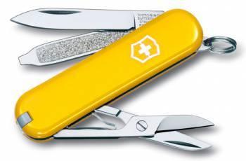 Нож со складным лезвием Victorinox Classic желтый (0.6223.8)
