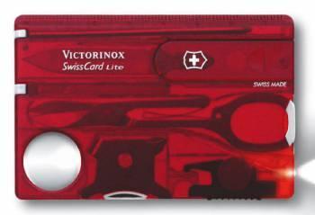 Швейцарская карта Victorinox SwissCard Lite красный полупрозрачный (0.7300.T)