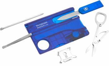 Швейцарская карта Victorinox SwissCard Lite синий полупрозрачный (0.7322.T2)