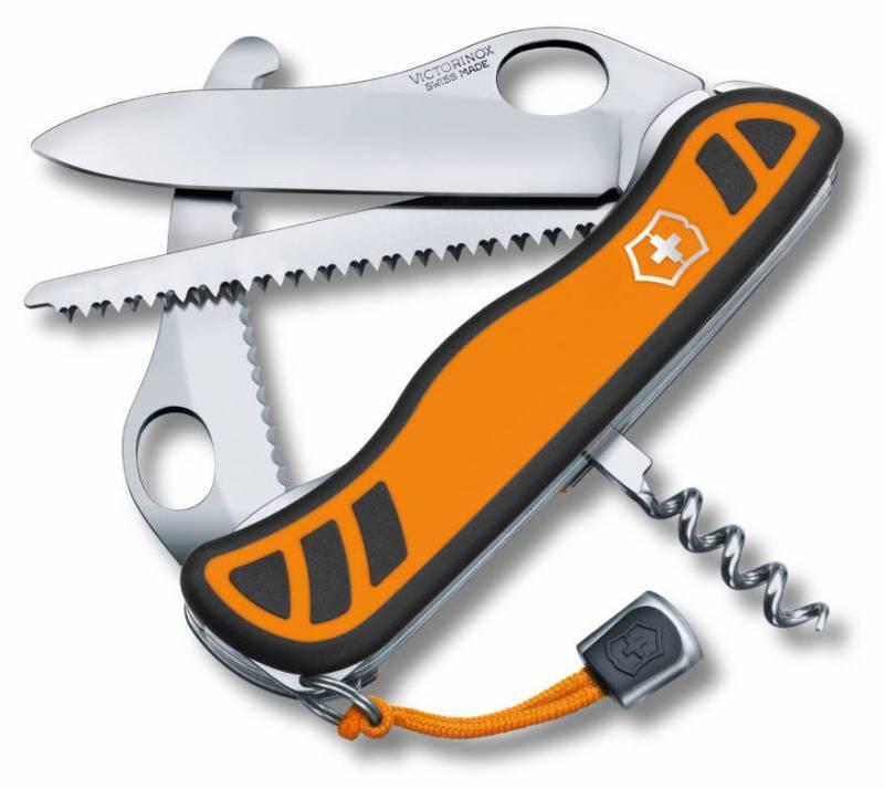 Нож со складным лезвием Victorinox Hunter XT One Hand оранжевый/черный (0.8341.MC9) - фото 1