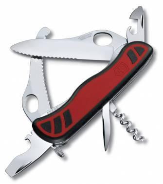 Нож со складным лезвием Victorinox Dual Pro One Hand красный/черный (0.8371.MWC)