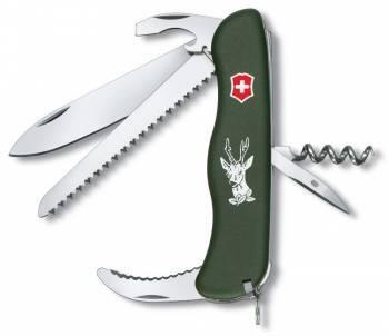 Нож со складным лезвием Victorinox Hunter зеленый (0.8873.4)