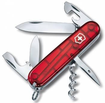 Нож со складным лезвием Victorinox Spartan красный полупрозрачный (1.3603.T)