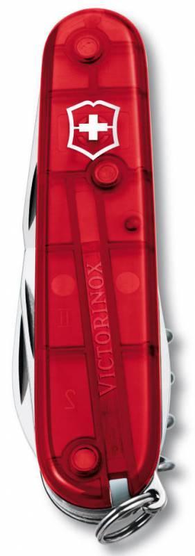 Нож со складным лезвием Victorinox Spartan красный полупрозрачный (1.3603.T) - фото 2
