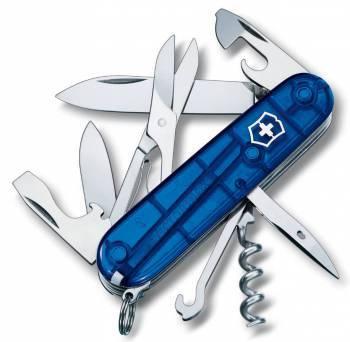 Нож со складным лезвием Victorinox Climber синий полупрозрачный (1.3703.T2)