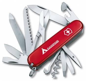 Нож со складным лезвием Victorinox Ranger Camping красный (1.3763.71)