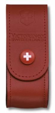 Чехол из натуральной кожи Victorinox Leather Belt Pouch красный (4.0520.1B1)