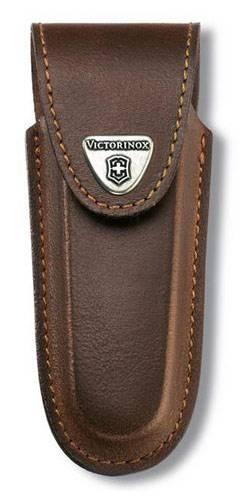 Чехол из натуральной кожи Victorinox Leather Belt Pouch коричневый (4.0537) - фото 1