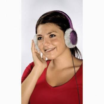 Гарнитура Hama Earmuff H-115987 фиолетовый - фото 2