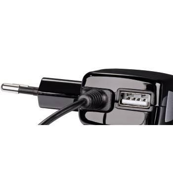 Зарядное устройство Hama H-115906 Business для моб.тел. micro USB 100-240В/1000мА индикация заряда  - фото 2