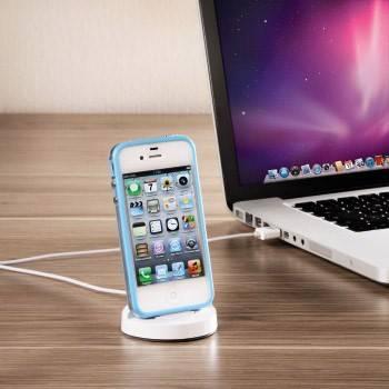 Докстанция Hama H-80844 Slide MFI для Apple iPhone/iPod для заряда/передачи данных белый  - фото 3