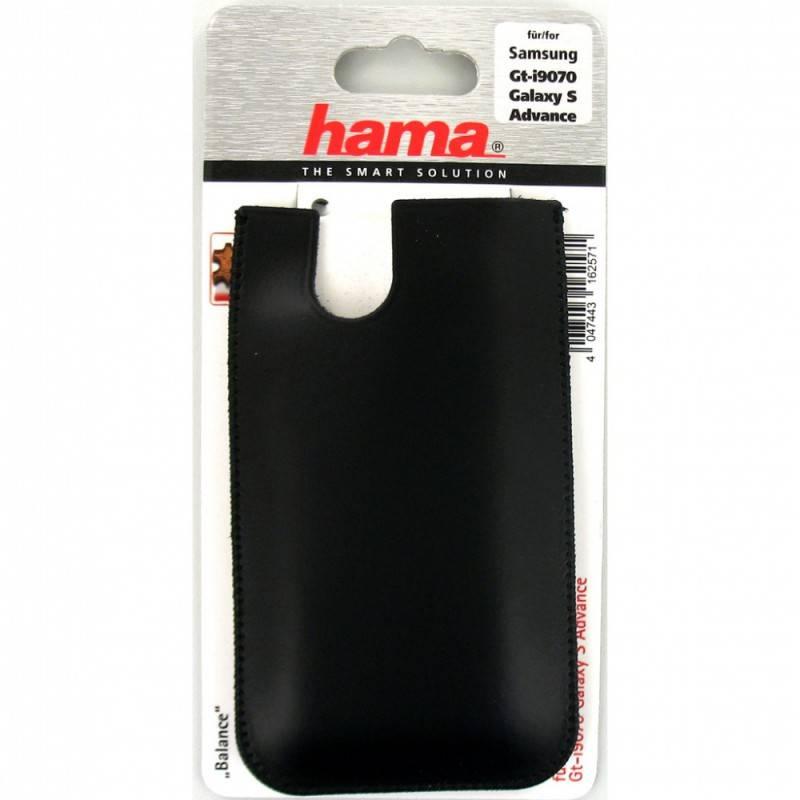 Чехол Hama H-103349 Balance для Samsung GT-I9070 Galaxy S Advance кожа черный  - фото 1
