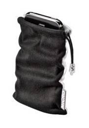 Чехол Hama H-104500 Super Bag для для iPhone 3G/3GS/4/4S и др. 12.5х6.2х2.2см микрофибра черн/бел  - фото 1