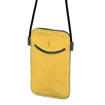 Чехол для мобильного телефона Hama Smile желтый микрофибра (13.2х9х1.0см) (H-106723) - фото 1