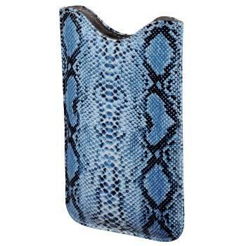 Чехол для мобильного телефона Hama Python голубой полиуретан/кожа (12.5х7.5х1.2см) (H-106758) - фото 1