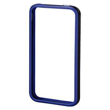 Рамка защитная Hama H-106766 Edge Protector для  iPhone 4/4S сохраняет  пластик черн/синий  - фото 1