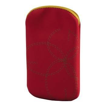 Чехол Hama H-106770 Velvet Pouch Print для мобильного телефона 7.5 х 6.0 х 1.8 см велюр красный  - фото 1
