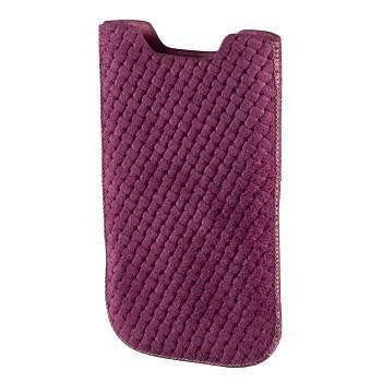 Чехол Hama H-106785 Criss-Cross для мобильного телефона размер М 1 3х11 5х6 3 см кожа розовый  - фото 1