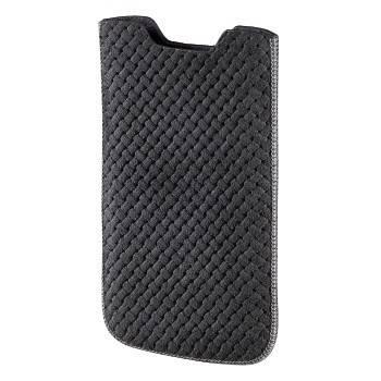 Чехол Hama H-106786 Criss-Cross для мобильного телефона размер М 1 3х11 5х6 3 см кожа серый  - фото 1