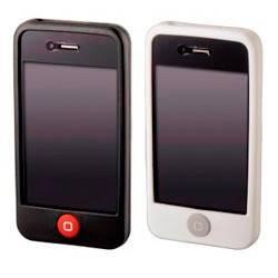 Чехол Hama H-107125 Skin для Apple iPhone 4 2 шт силикон белый/черный  - фото 2