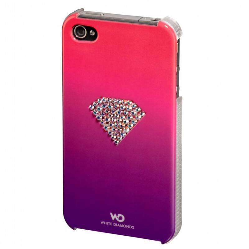 Чехол (клип-кейс) Hama White Diamonds Rainbow H-108517 розовый - фото 1