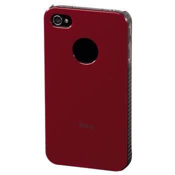 Футляр Hama H-108554 Shiny для Apple iPhone 4/4S пластик красный  - фото 2