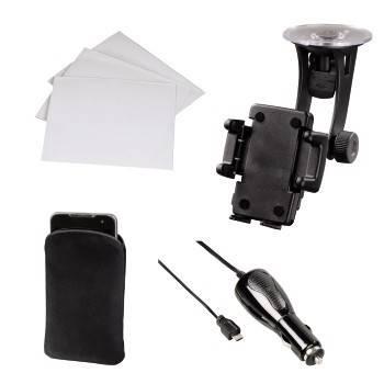 Комплект Hama H-109267  длясмартфонов держатель с шар. головкой+кабель для авто+пленка+чехол черн  - фото 1